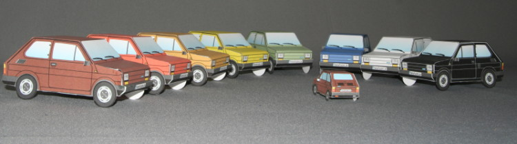 Papercraft, construction paper FIAT 126 FSM