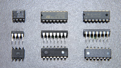 Various operational amplifier ICs