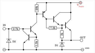 Internal circuit source current driver UDN2981A