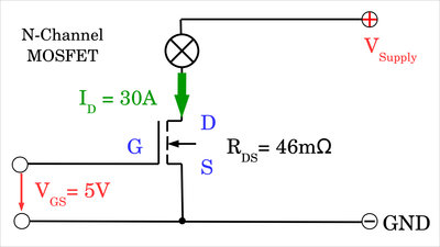 N-channel MOSFET power loss