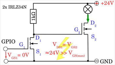 N-channel MOSFETs too high gate voltage