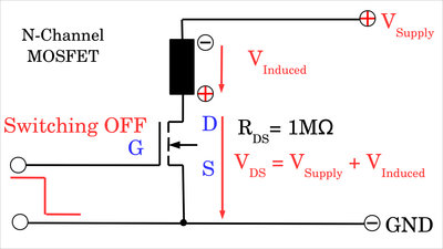 Inductive load without flyback diode