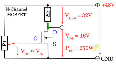 N-channel MOSFET switching losses