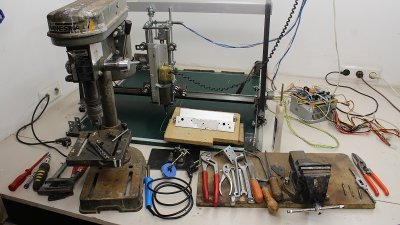 Tools used to build CNC router V2.0