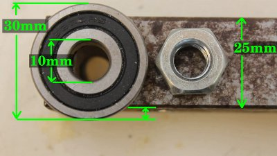 Ball bearings of CNC router V2.0