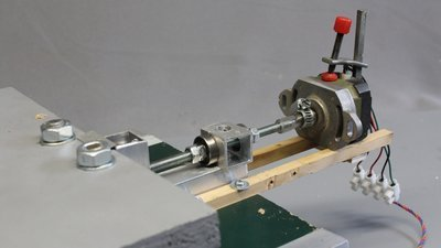 Bipolar stepper motor in linear drive