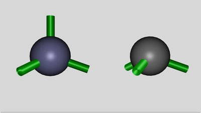Hybridized Atom according to the ball and stick model
