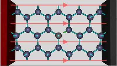 Trivalent Atom in a silicon crystal