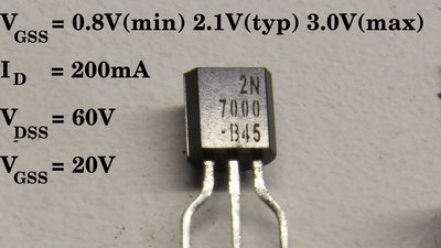 Amplifying with field-effekt transistor