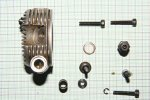 Disassembled 4-stroke engine
