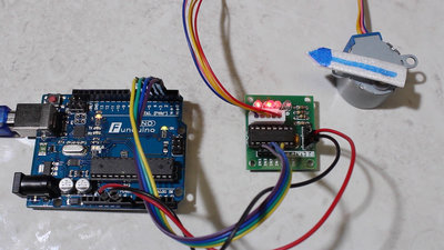 Microcontroller starter kit stepper motor control