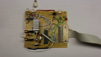 Potentiometer at analog input