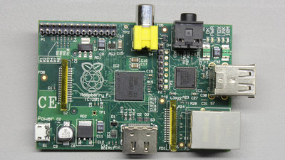 Raspberry Pi, Top view