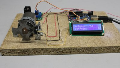 Stepper motor with sensor disc