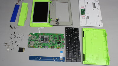 disassembled Mini-Laptop